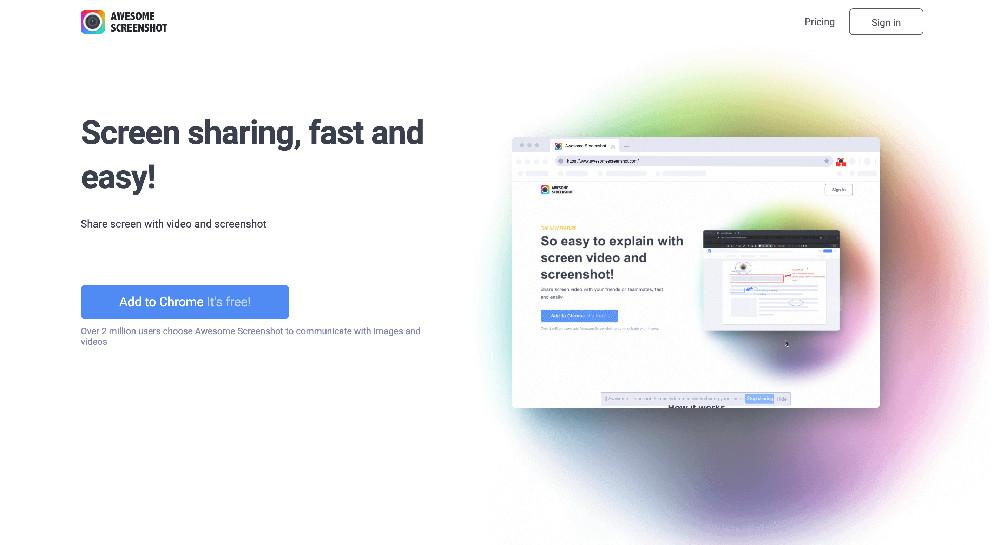 Estensione per Chrome Awesome Screenshots