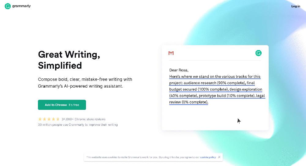 Estensione per Chrome Grammarly