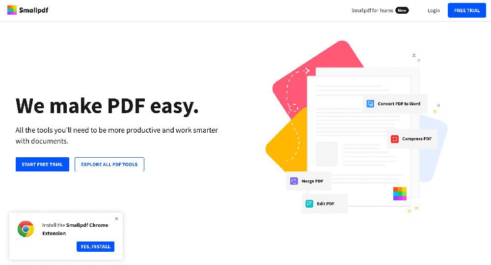 Estensione per Chrome Small PDF