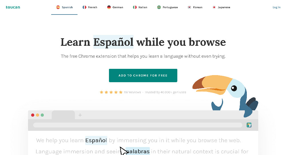 Estensione per Chrome Tucan