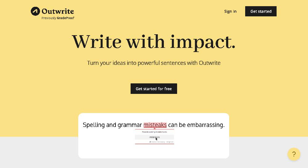 Outwrite e gli strumenti di controllo grammaticale