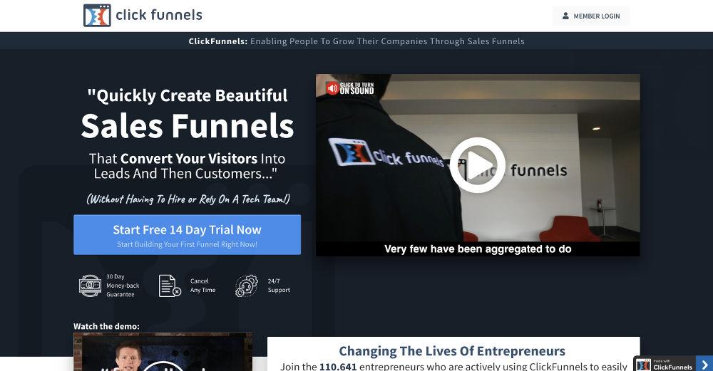 Clickfunnels e i migliori strumenti per creare landing pages