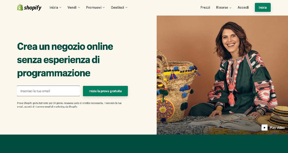Shopify e i migliori website builder