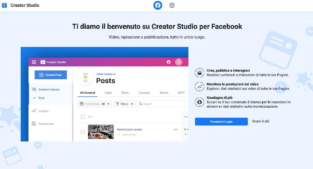 Creator Studio e i migliori strumenti per la gestione dei social network