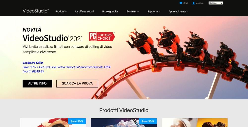 Corel VideoStudio ed i migliori strumenti per montare video