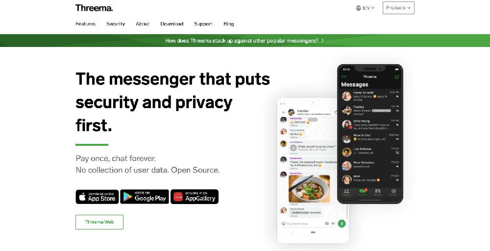 Usare threema come chat alternativa a WhatsApp