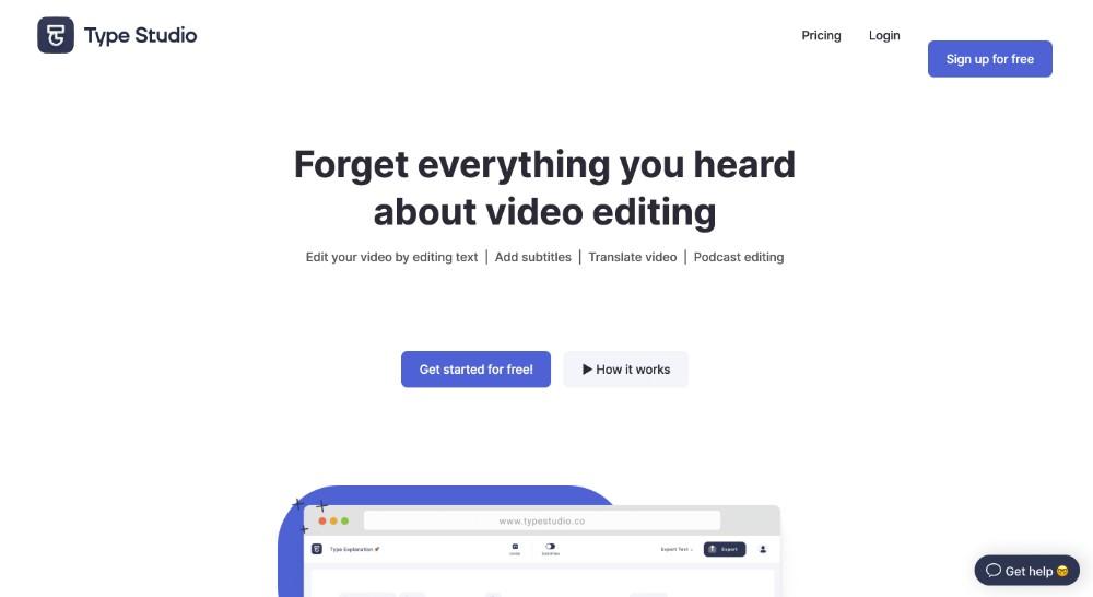 Type studio ed i migliori strumenti per editare video